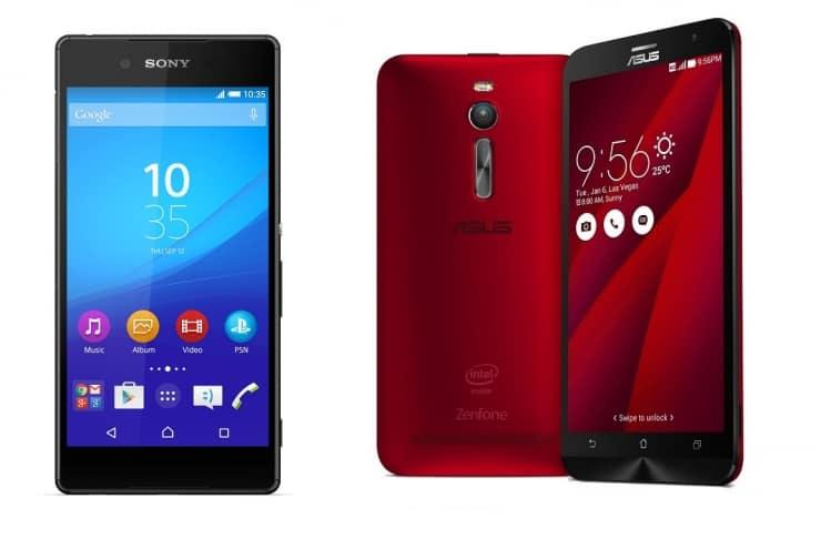 Sony Xperia Z3 Plus (aka Sony Xperia Z4) vs ASUS ZenFone 2 (ZE551ML)