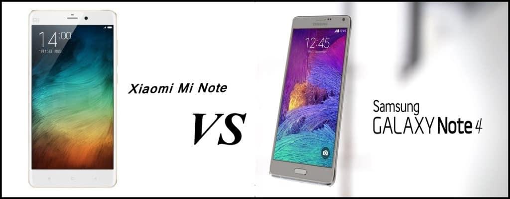 xiaomi vs note 4