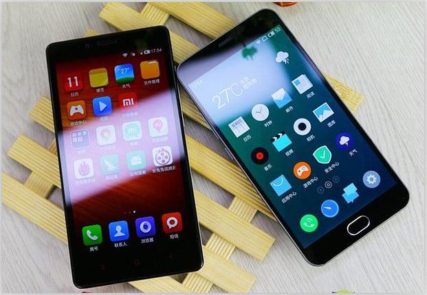 Xiaomi Redmi Note 2 vs Meizu M2 Note to