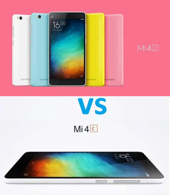 Xiaomi Mi4c Vs Xiaomi Mi4i Sub Rm1000 Smartphone