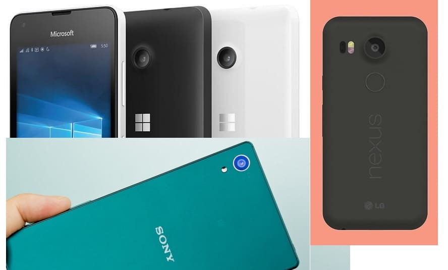 Lumia 950 vs Nexus 5X vs Xperia Z5