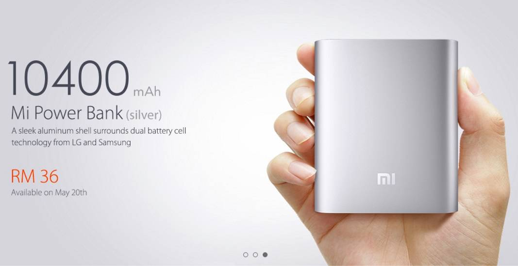 XIAOMI Mi Power Bank for a price of RM 36 in Malaysia ...