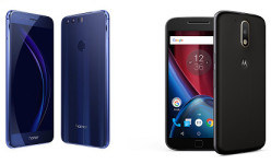 Huawei Honor 8 vs Motorola Moto G4 Plus: 4GB RAM and 3000mAh