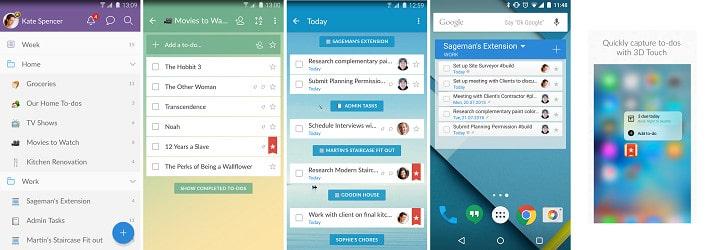 best to-do apps Wunderlist