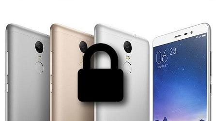 reset security lock password on xiaomi