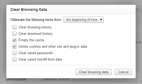 things not to do clear browsing data