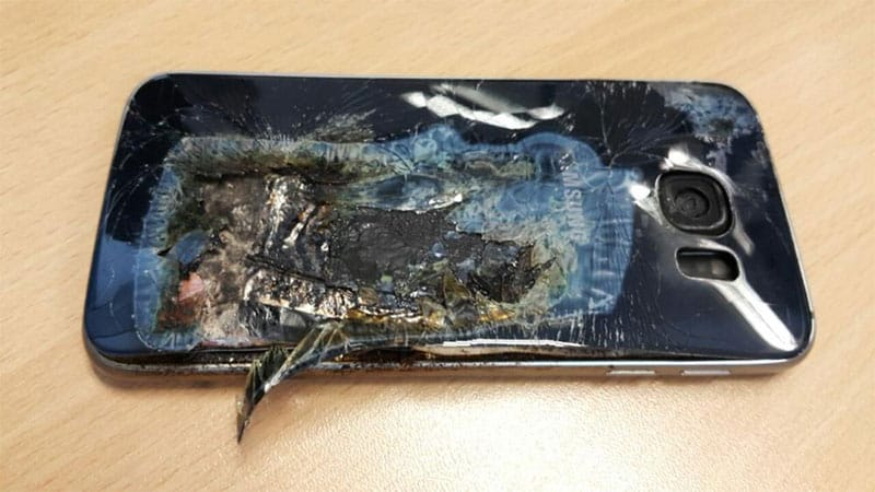 Samsung Galaxy S6 Exploded