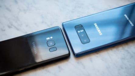 Samsung Galaxy Note 8 vs.