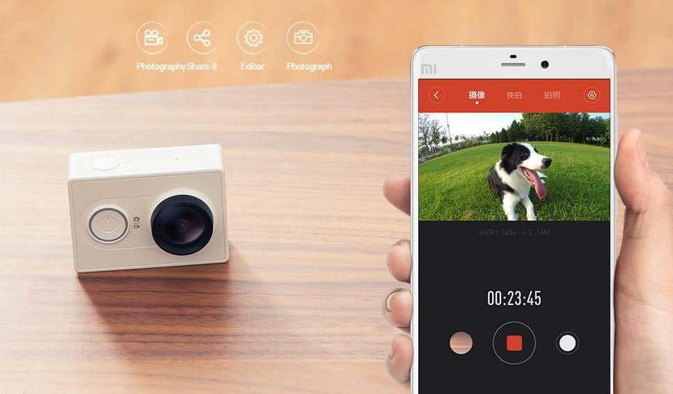 xiaomi yi pro action camera launches for 64usd
