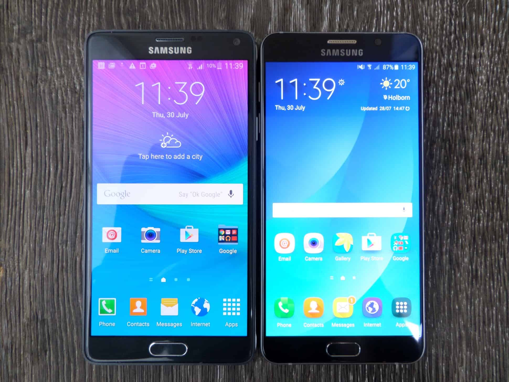 Galaxy Note 5 Vs Galaxy Note 4 Comparision Amp Notable