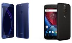 Huawei Honor 8 vs Motorola Moto G4 Plus: 4GB RAM and 3000mAh